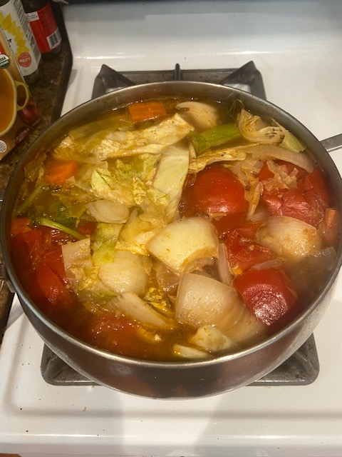 Image of soup simmering